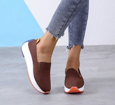 Fashion Women Flats Slip on Mesh Shoes Woman Light Sneakers Spring Autumn Loafers Femme Basket Flats Shoes Flats Shoes Women