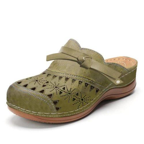 Summer Women's Slippers 2021 Vintage Roman Woman Shoes Casual Wedge Platform Sandals Hollow Comfort Beach Shoe Female Flip Flops