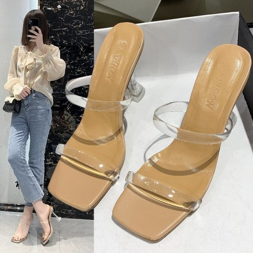 2021 sandals women summer new fashion women sandals high-heel profiled heel fashion summer sandals fashionable and elegant