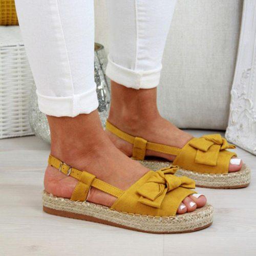 Women Flat Sandals Summer Ladies Gladiator Peep Toe Elastic Band Sandals Fashion Platform Shoes woman Casual Footwear