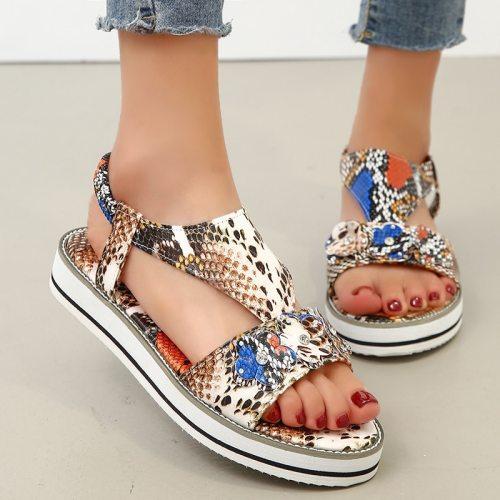 Buckle Strap Womens Sandal Platform Heels Sandals Shoes Fashion Women Sandals Summer Indoor Beach Shoes for Women Sandalias