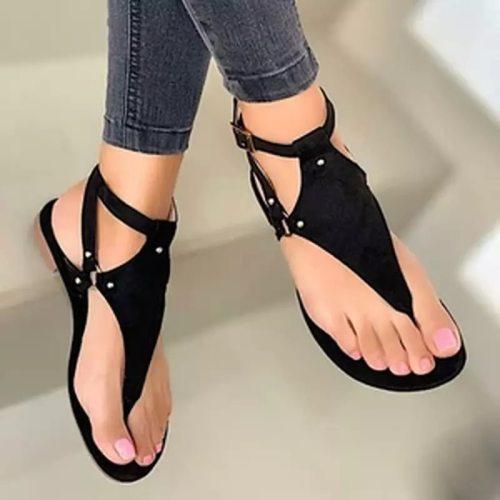Women Sandals 2021 Summer Outdoor Beach Flip-flop Sandals Solid Fashion Gladiator Sandals Women Flats Casual Ladies Shoes