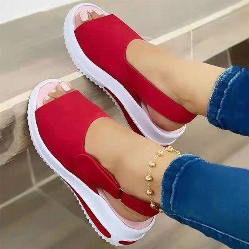 2021 New Women Sandals Soft Stitching Ladies Sandals Comfortable Flat Sandals Women Open Toe Beach Shoes Woman Footwear
