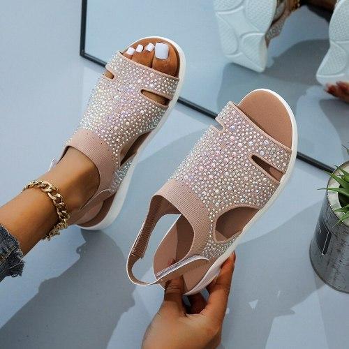 Fashion Women Sandals 2021 New Summer Women Shoes Comfortable Sandals Ladies Slip-on Flat Sandals Women Sandalias mujer