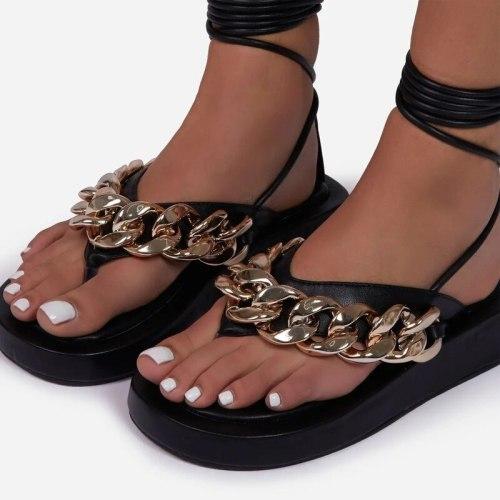 2021 Women Sandals Platform Sandals Fashion Open Toe Sandalias Summer Fashion Ankle Strap Woman Sandals Ladies Thick Shoes