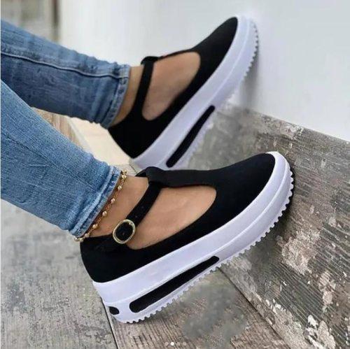 Summer Women's Sandals Vintage Wedge Shoes Woman Buckle Strap Straw Thick Bottom Flats Platform Sandals Flock Sandalias Mujer