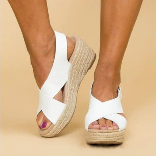 Wedges Shoes For Women 2021 New Summer Ladies Sandals Solid Plus Size Non-slip Famale Casual Footwear Woman Comfortable Shoes