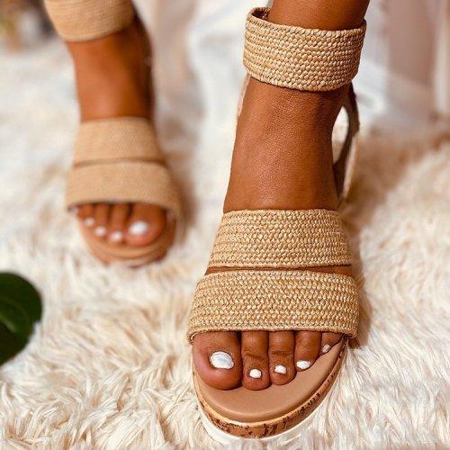 Women's Sandals Summer New Style Platform Platform Wedge Sandals Flat Bottom Roman Women's Shoes Fashion All-Matc Personality