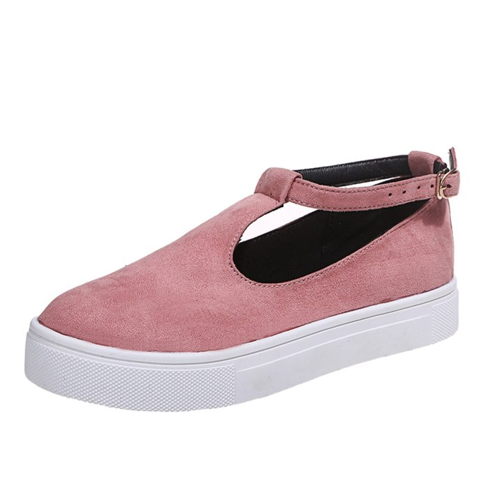 Fashion Flat shoes Women Summer Suede Casual Buckle Strap Flat Shoes Color Breathable Casual Beach Walking Sneakers Footwear