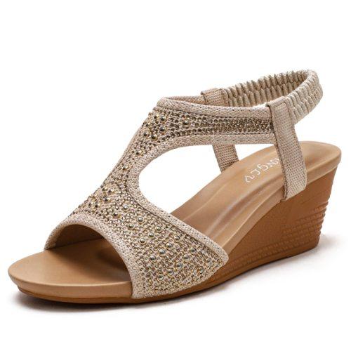 2021 Woman Wedges Sandals Female Casual Summer Women Shoes Comfortable Ladies Sandalias Plus Size 35-42