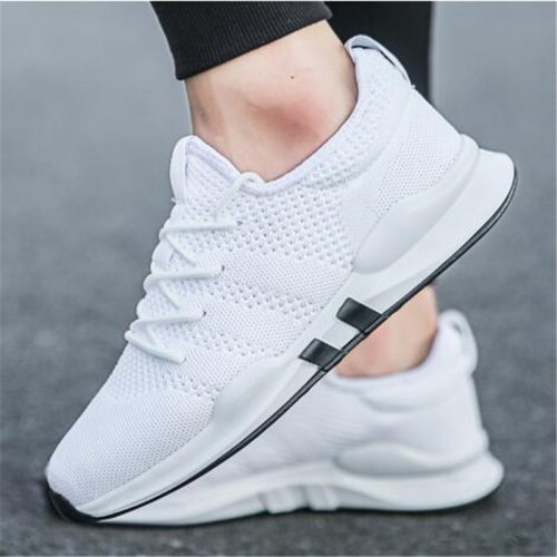 Spring & Summer Fashion Mens Casual Shoes White Lace-Up Breathable Shoes Sneakers basket tennis Mens Trainers