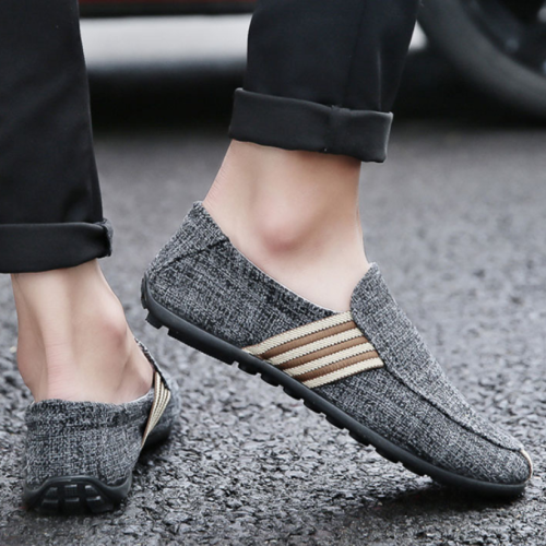 New Arrival Spring Mens Breathable High Quality Casual Shoes Jeans Canvas Casual Shoes Slip On men Fashion Flats Loafer Shoes