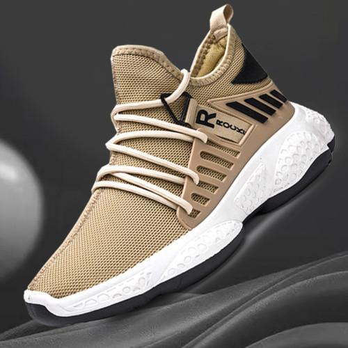 Men Sneakers New Breathable Lace Up Men Mesh Shoes Fashion Casual No-slip Men Vulcanize Shoes