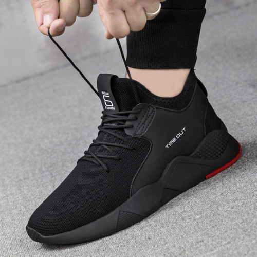New 1Pair Mesh Men Casual Shoes Lac-up Men Shoes Lightweight Comfortable Breathable Walking Sneakers