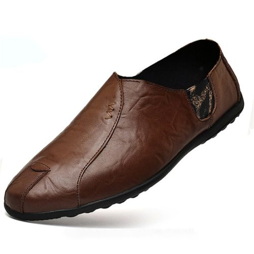 Men Leather Shoes Brand Mens Fashion Shoes Men Casual Leather Shoes  Men Loafers Boat Shoe Driving Shoes new