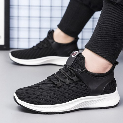 Summer New Mesh Men Casual Shoes Lac-up Men Shoes Lightweight Comfortable Breathable Walking Sneakers