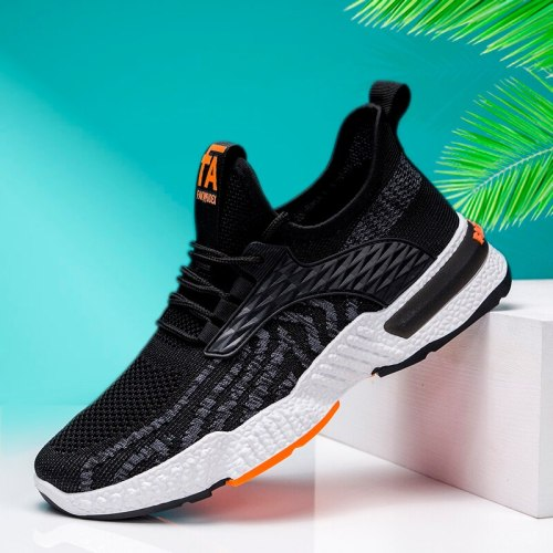 Summer Unisex  Air Cushion Casual Clunky Increasing Sneaker Lac-Up Mesh Non-Slip Lightweight Breathable Sport Running Shoes