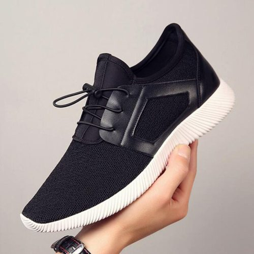 2021 Running Shoes Men Sport  Knitting Mesh Breathable Flat Heel High Quality Sneakers Foreign Trade Cross-Border Men's Shoes