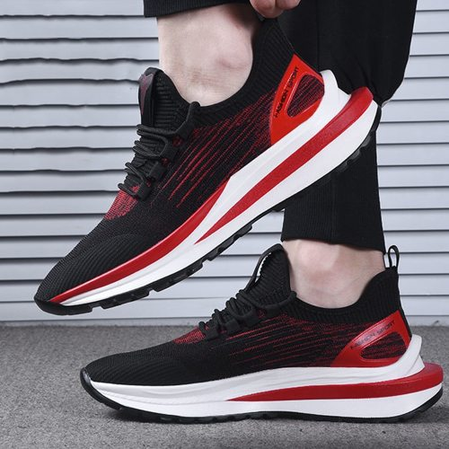 Fashion Breathable Men's Casual Sneakers New Style Fly Netting Thick Soled Sport Shoes For Men Summer And Autumn Hollow 0ut Shoe