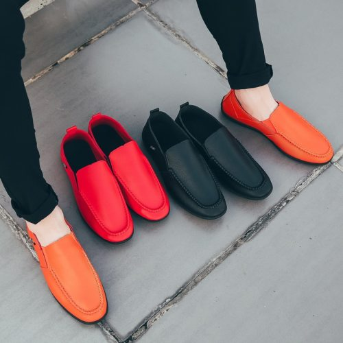 Men Shoes Leather Loafers Casual Shoes Men Flats 2021 Moccasins Soft Slip on For Men Loafers Driving Shoes