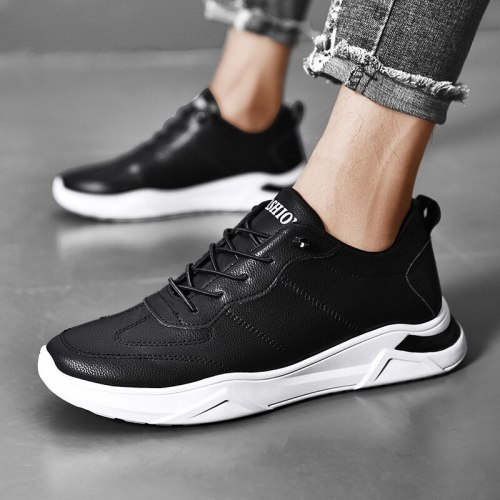 2021 Men Shoes Casual Flats Mans Footwear Leather Man Sneakers Designer Male Lace Up Breathable Men's Sneakers Fashion Footwear