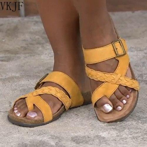 2021 Summer Women Shoes Beach Flat Slippers Open Toe Ladies Sandals Platform Slides Big Size Female Flip Flops