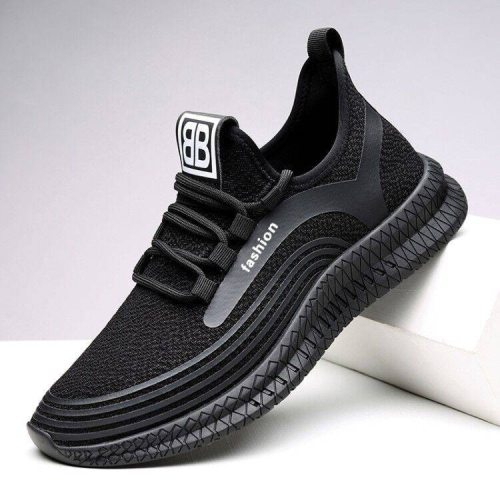 Sneakers Men Air Mesh Breathable Lace Up Solid Men Trainers Shoes Hot Sale Outdoor Walking Casual Shoes for Men