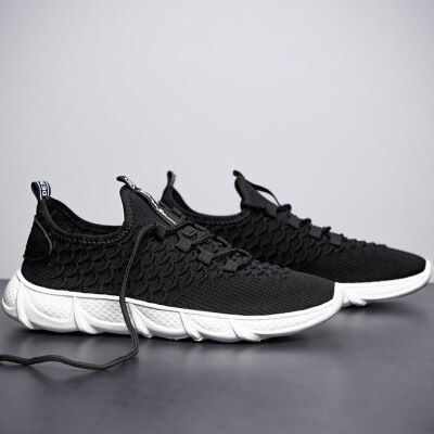 New Men's Korean Version Of The Trend Of Breathable Fly-woven Ultra-light Sports Shoes Casual Wild Student Men PBX005