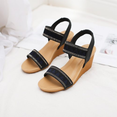 2021 Summer shoes women sandals wedge vintage Bohemia gladiator ladies sandles for woman Plue Size 42