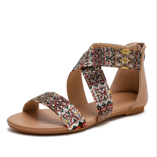 2021 New Summer Fashion Casual All-match Elegant and Generous Fairy Style Seaside Bohemian Ethnic Style Beach Flat Shoes