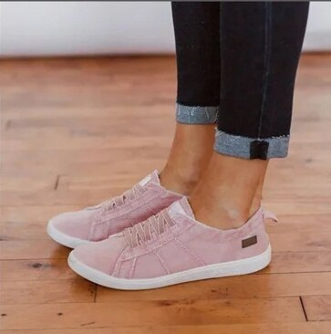 Flat summer canvas low heels soft plus size sandals shoe shoes woman women pumps cut out female mujer sapato feminino