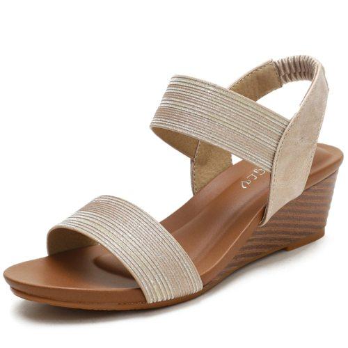 2021 Sandals Women 5cm Heels Wedges Sandals For Women Sandals Summer Shoes Chaussures Femme Sandals Plus Size