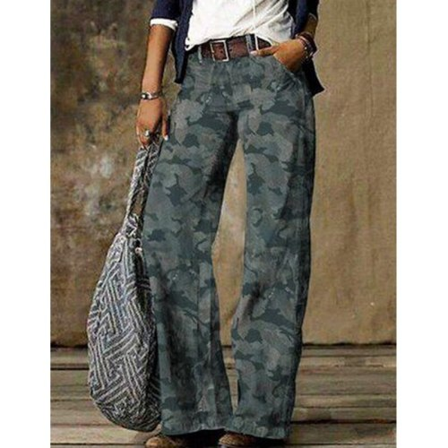 Print Thin Jeans Woman Spring Fashion New Plus Size Mid Waist Straight Loose Casual Washed Jeans