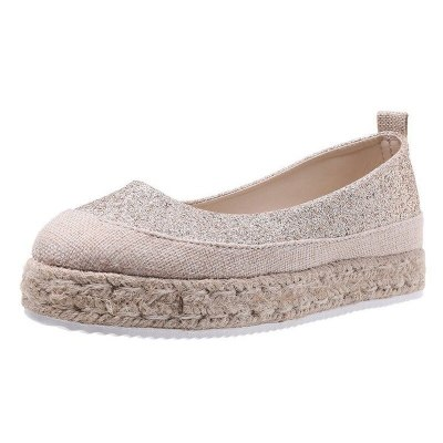 Cloth Low Heels Soft Flat Summer Plus Size Sandals Shoe Shoes Woman Women Pumps Cut Out Female Mujer Sapato Feminino