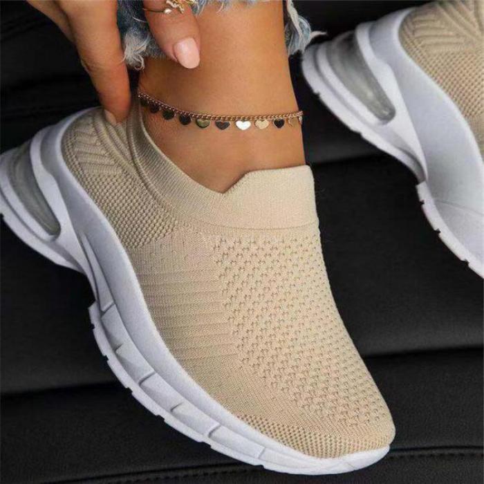 Woman Sneakers 2021 Shoes Vulcanized Female Walking Mesh Flat Anti-Slip Breathable Light New Zapatos Plataforma Mujer