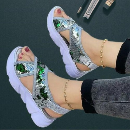 Large size sports women's sandals summer new style fashion platform sandals women casual breathable womens shoes beach shoes