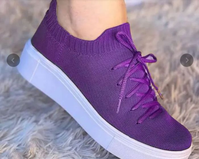 2021 Summer New Women's Fashion Flying Woven Mesh Fabric Comfortable and Soft Sports Shoes Running and Mountaineering
