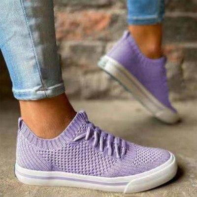 Women Casual Shoes Fashion Breathable Walking Mesh Flat Shoes Slip-on Sneakers Women 2021 Vulcanized Shoes Soft Female Footwear