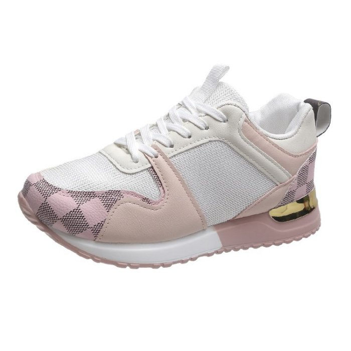 Air Mesh Women's Sneakers Breathable Round Toe Casual Wedges Lace-up Fashion Fly Woven Plus Size Women Sport Shoes