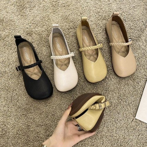 Square Toe Casual Woman Shoe Knitting Flats Loafers With Fur Modis Female Footwear Slip-on New 2021 Round Moccasin Summer Dress
