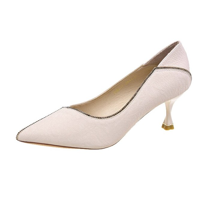 Fine Heeled Shoes 2021 Sandals Ladies Branded Pumps Shallow Mouth Pointed Wedge Stiletto 3cm Latest African Fashion Straps Casual