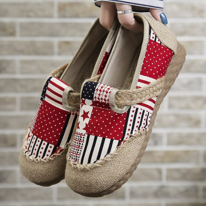 2021 new National Style Women's Shoes Old Beijing Cloth Shoes Linen Beef Tendon Bottom Women Single Shoes Dance Fisherman Loafers