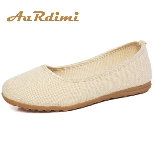 Classics Solid Women Flats Shoes Slip On Summer Autumn Casual Shoes Round Toe Ladies Loafers Canvas Shoes Woman
