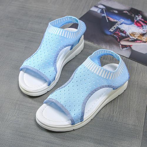 Sandals women summer 2021 new open toed flat Roman women sandals flying woven hollow platform sports sandals tenis de mujer