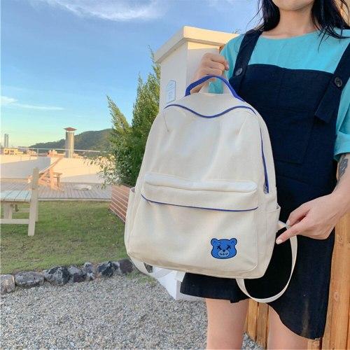 Fashionable Backpack Nylon Women Backpack Anti-theft Shoulder Bag New School Bag for Teenager Girls School Backapck Female