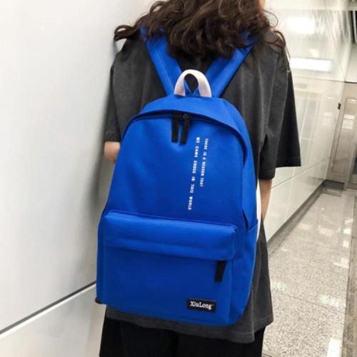Simple Style Backpack Women Solid Color School Bag For Teenage Girls Female Fashion Travel Backpack Mochila Bagpack Students Bag