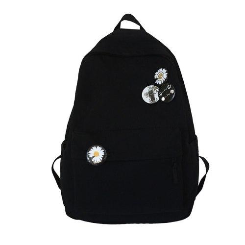Solid Color Women's Backpack Waterproof School Bags For Teenager Girls Student Bookbag Travel School Backpack