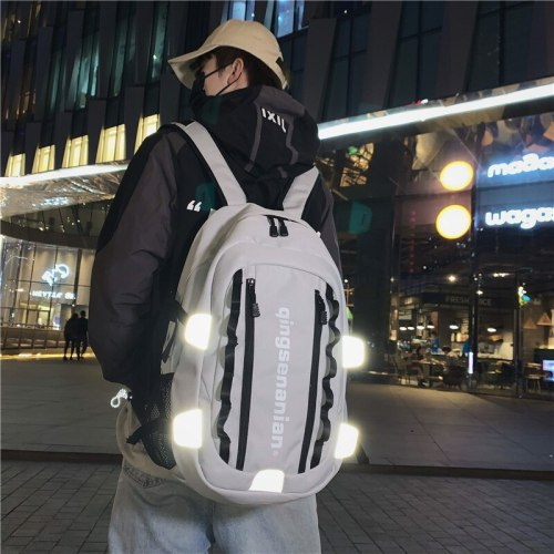 High school students' schoolbag men's fashion trend backpack men's backpack men's Backpack Travel Bag personalized letters
