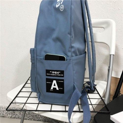 Big Women Backpack for Teenage Girls School Bags Boy Teen College Style Back Pack Youth Casual Bagpack Nylon Solid Black Backbag