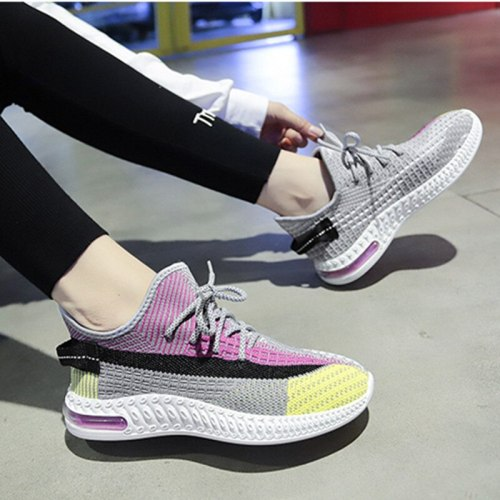 2021 Flying Weaving Women Sneakers Breathable Ladies Sports Shoes Non-slip Student Casual Female Shoes Soft Womens Running Shoes
